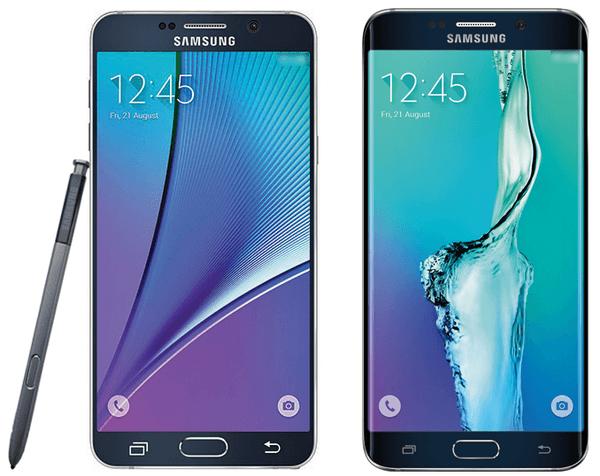 Samsung Galaxy Note 5 et S6 Edge Plus