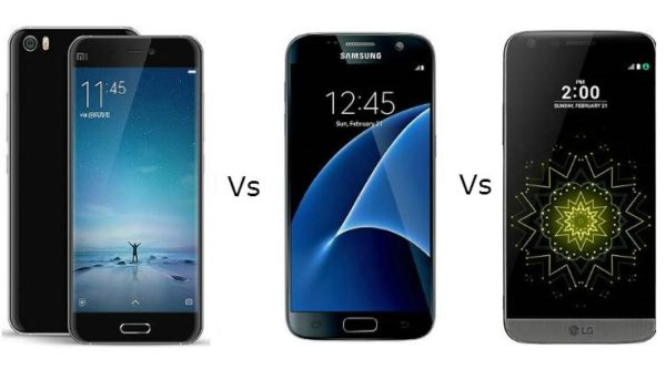 Xiaomi Mi 5 vs Samsung Galaxy S7 vs LG G5