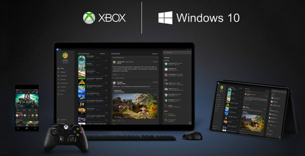 Xbox sur Windows 10