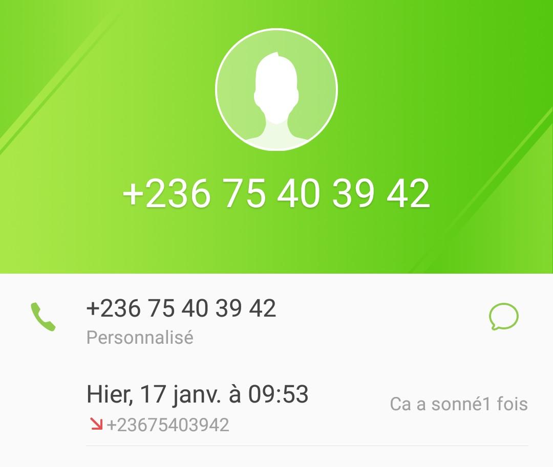 Anraque au +236 75 40 39 42