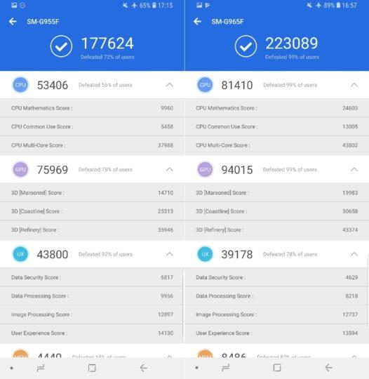 Galaxy S9+ Antutu