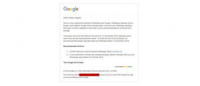 WhatsApp - Google Drive