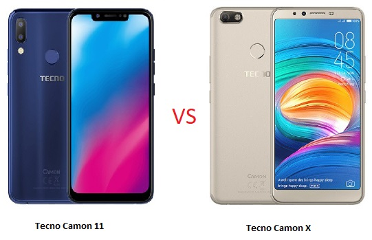 Tecno Camon 11 vs Camon X