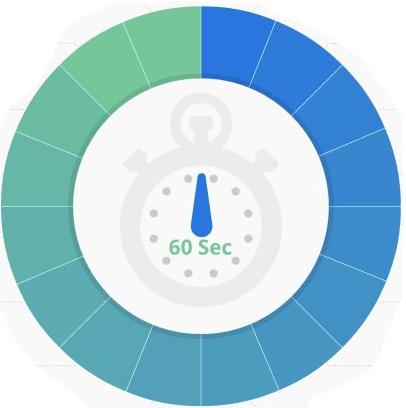 60 sec sur internet