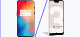 Comparatif Mobile : OnePlus 6T vs Google Pixel 3
