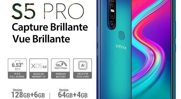 Infinix S5 Pro : Fiche technique, caractéristiques et prix