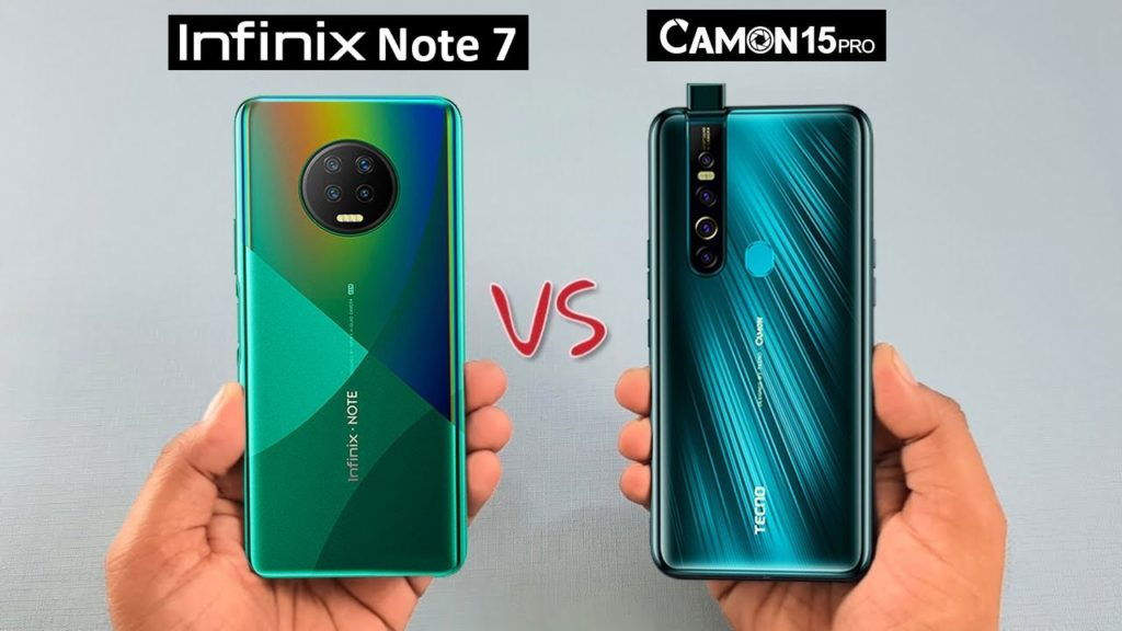 Infinix Note 7 vs Camon 15 Premier