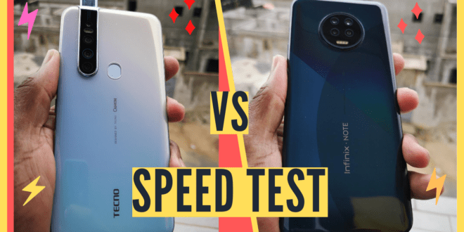 Vidéo : Tecno Camon 15 Premier vs Infinix Note 7, Speed Test