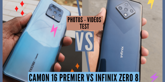 Camon 16 Premier VS Infinix Zero 8 : Comparatif complet
