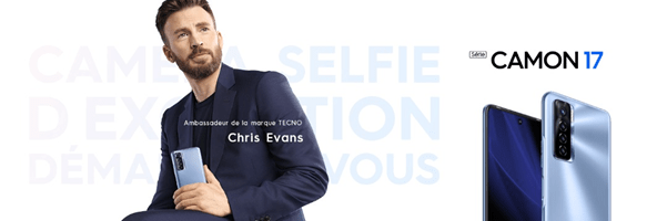 Tecno Camon 17 Pro - Chris Evans